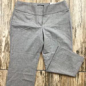 NWT Express Editor Cropped Dress Pants Gray 8